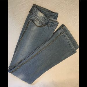 Cache chain trimmed jeans
